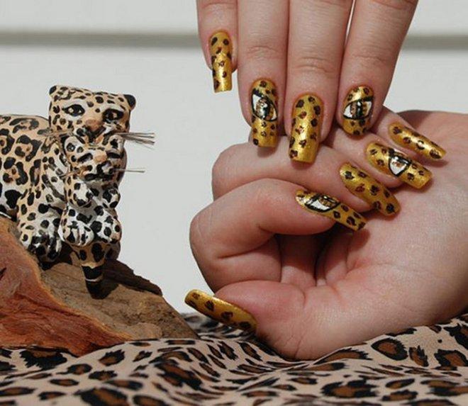 Леопард картинки на ногтях