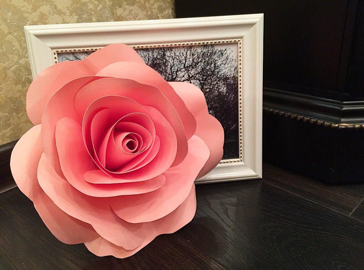 Почтовых, бумажная роза в открытке