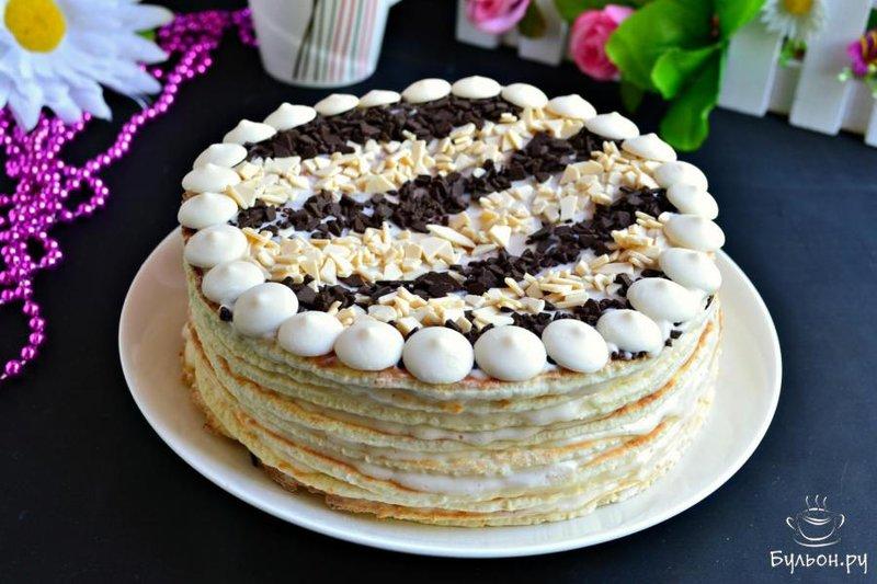 Торт сметанник в пошаговый рецепт с фото