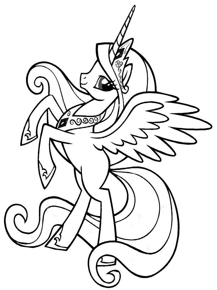 «Раскраска пони принцесса » — карточка пользователя Мадина ...