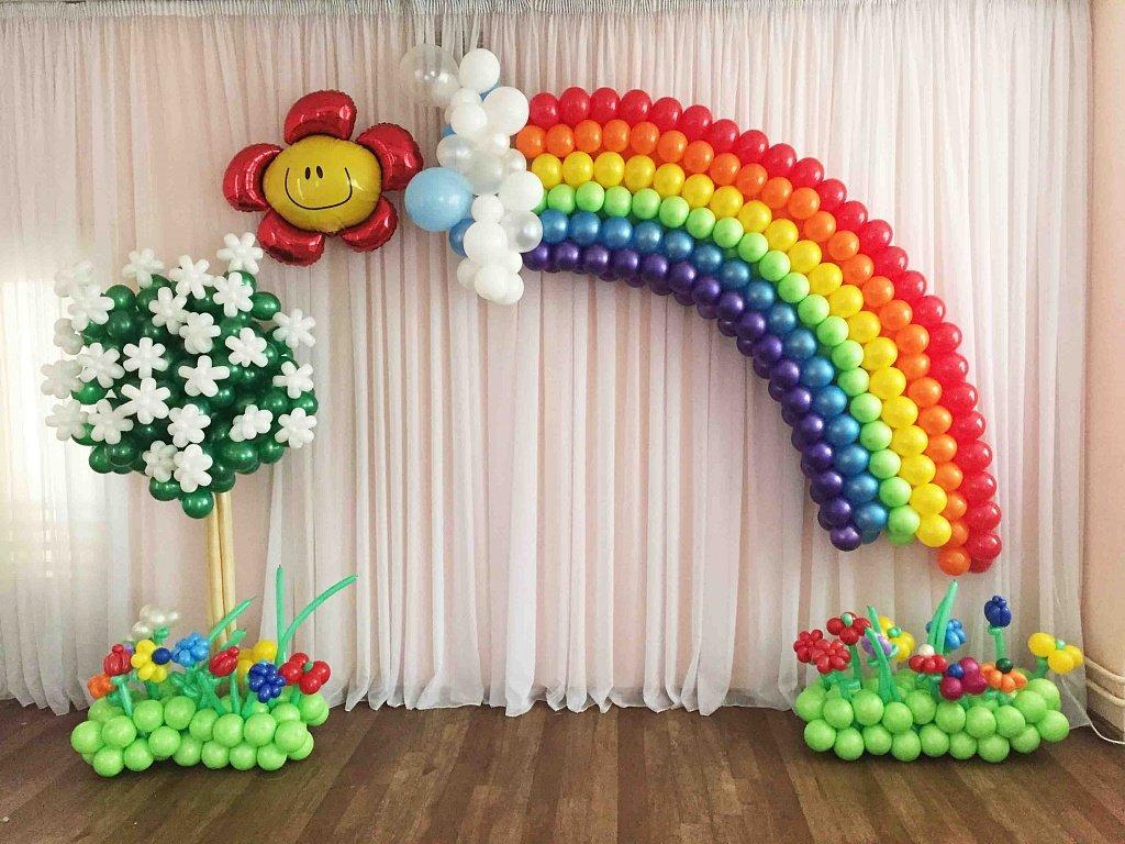 Картинки украшение из шаров детский праздник