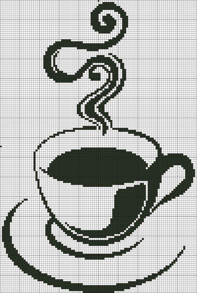 Схема вышивки крестом кофе картинок