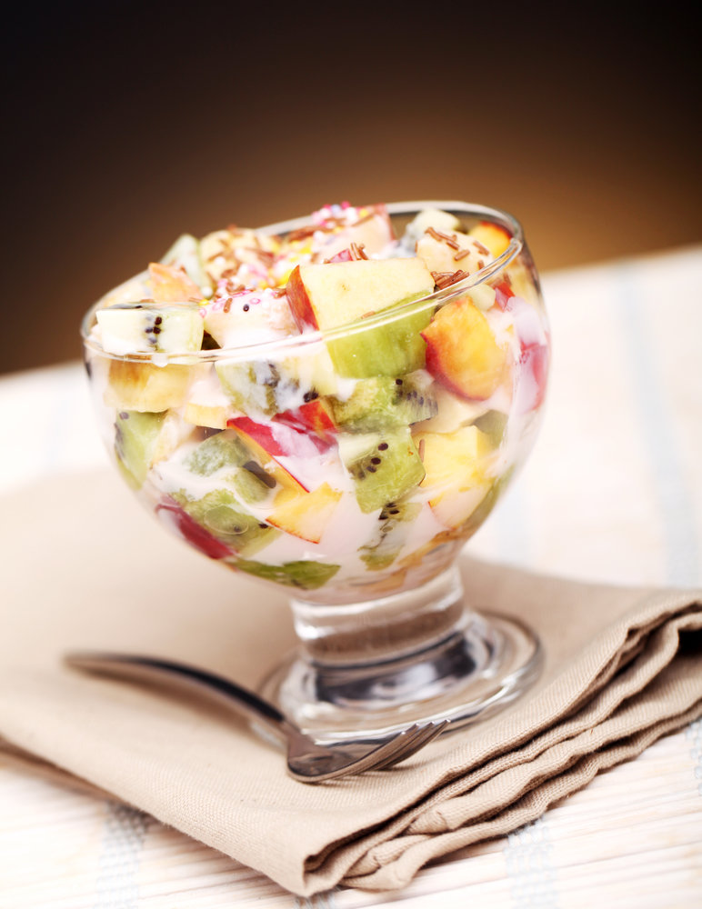 дрова можно фруктовый салат со сметаной фото и рецепт тенистым тропинкам увидите