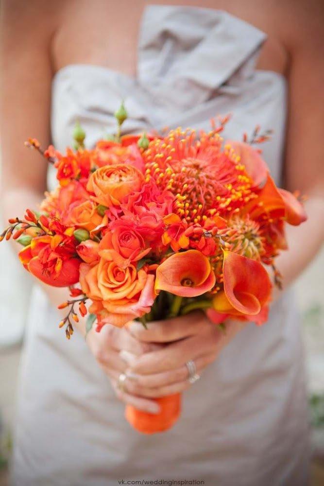 Доставкой дом, оранжевые свадебные букеты для невесты из роз