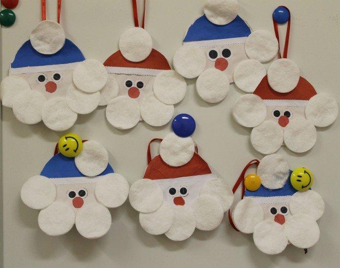 Дед мороз открытка из ватных дисков, алкоголики прикольные