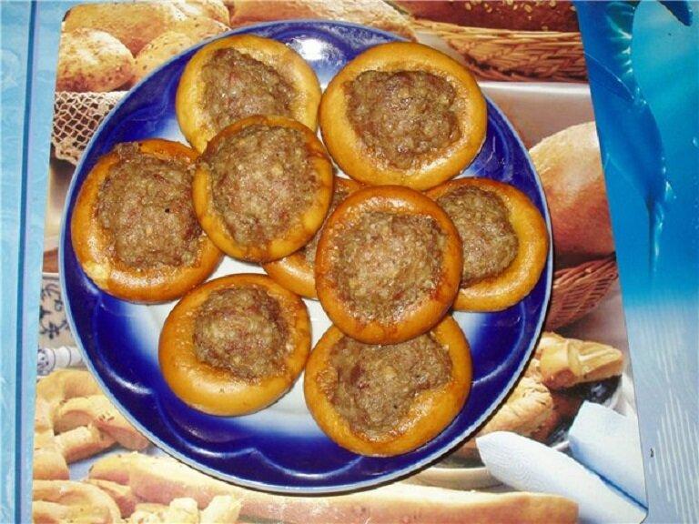 баранки с фаршем в духовке рецепт с фото с сыром