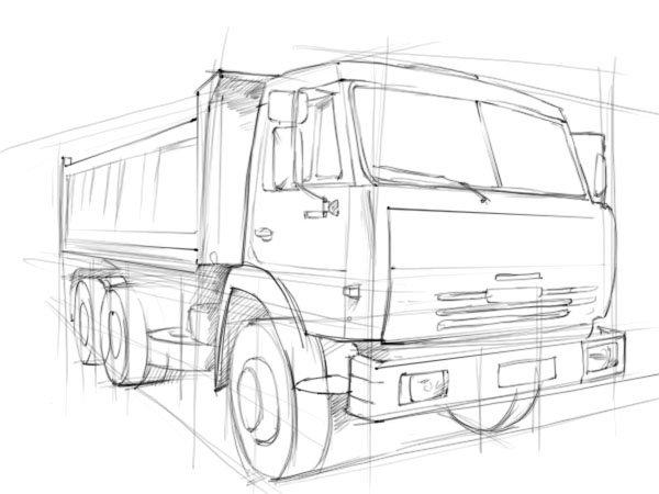рисунки грузовиков камаз отметина