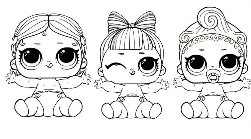 Lol Suprise Doll Coloring Pages Free Printable Lol Dolls Pin Card