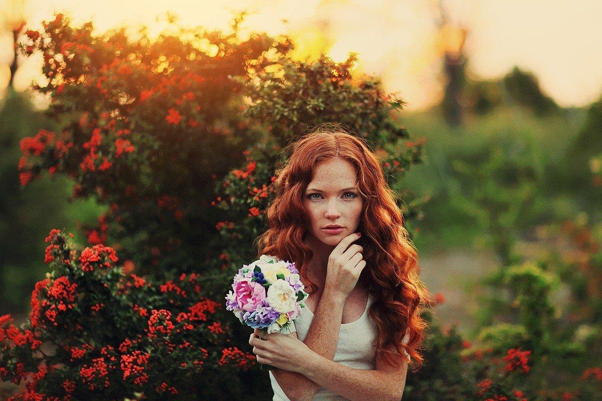 Картинка с рыжими цветами, картинки