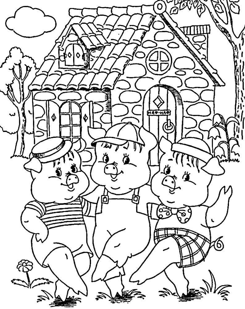 Картинки из детских сказок черно белые, картинки дню