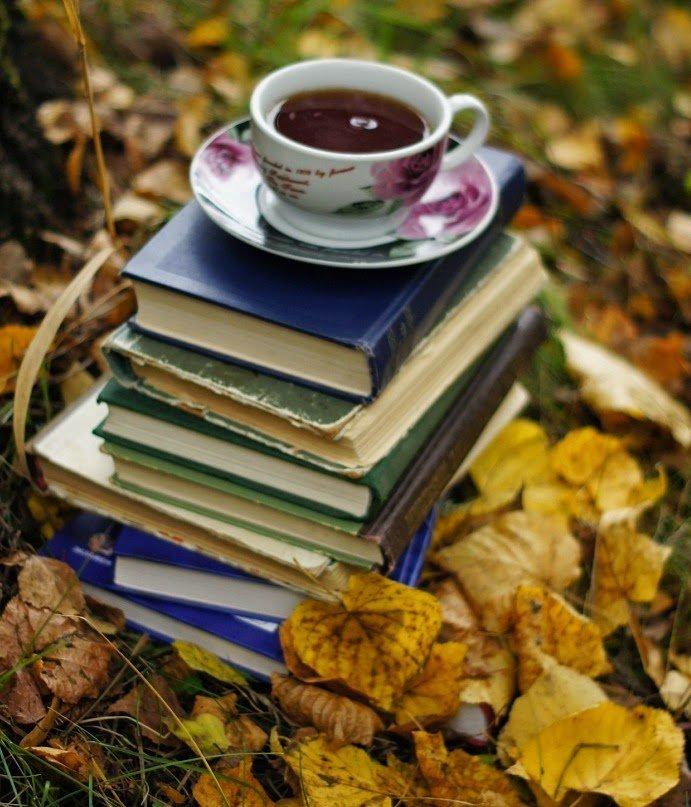 Осень с книгой картинки