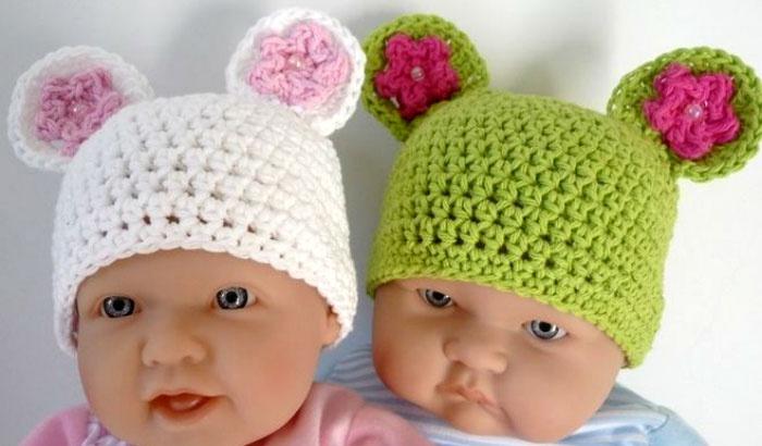 Вязаные шапочки для мальчиков с описанием Вязание 33