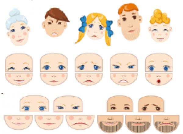 Эмоции разрезные картинки для детей