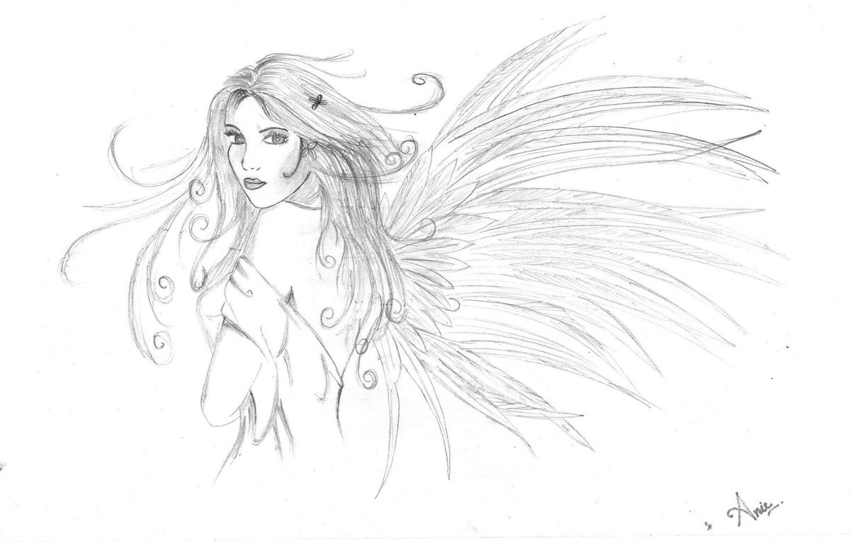 Сделать открытку, самые красивые картинки ангела карандашом