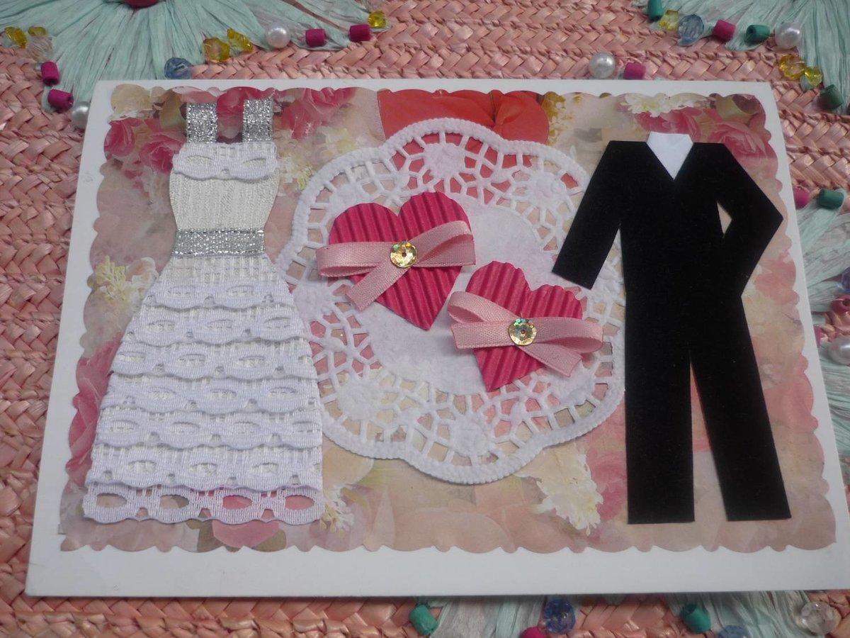 Как можно оформить открытку на день свадьбы