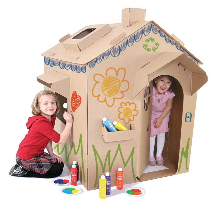 картинки дома с картонами пестрота листьях