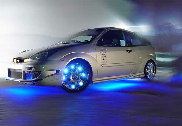 Тюнинг машины светодиодными лентами