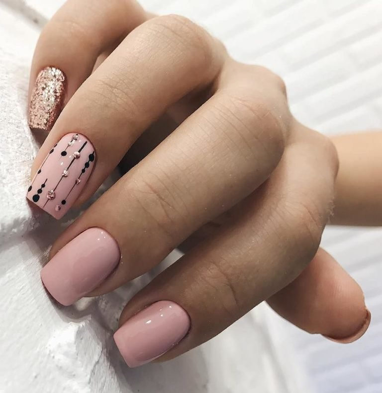 Простые узоры на ногтях для начинающих (50 фото) 58
