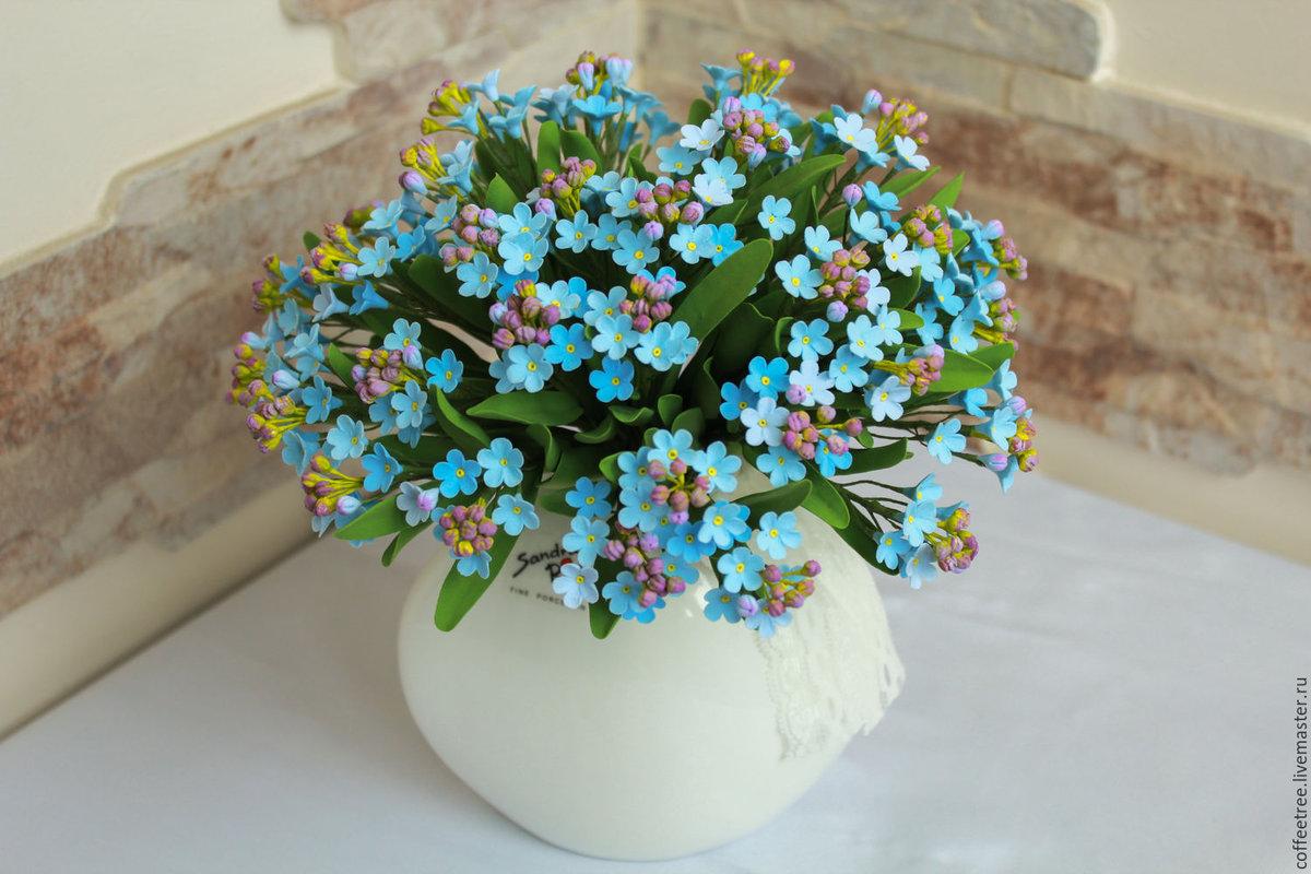 Астана доставка, букеты из цветов незабудки