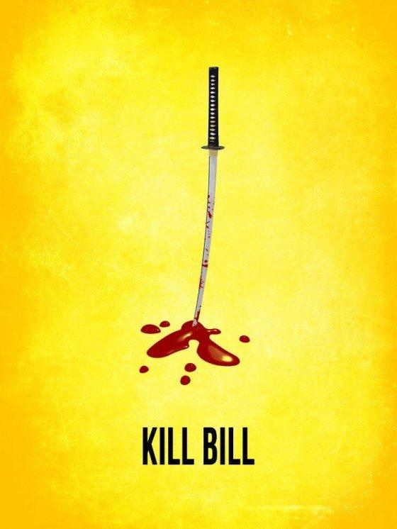 Убить билла постер минимализм