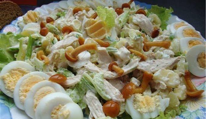 салат сосновый бор рецепт с фото