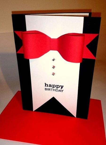 Днем красивых, открытка мужу на день рождения своими руками