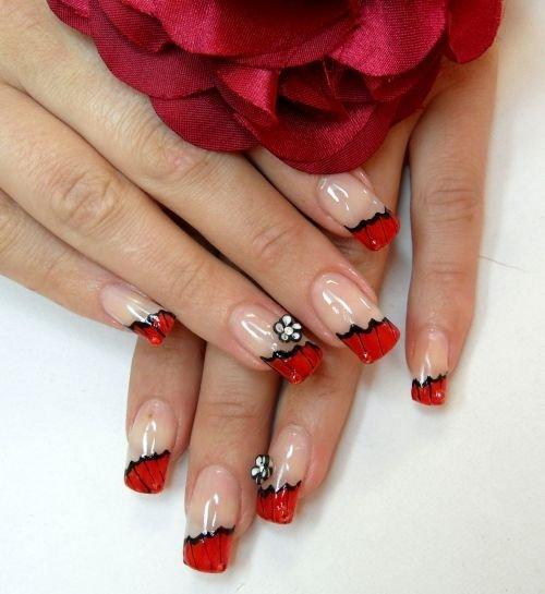 Красный маникюр: 50 фото, маникюр с красным. - Дизайн ногтей
