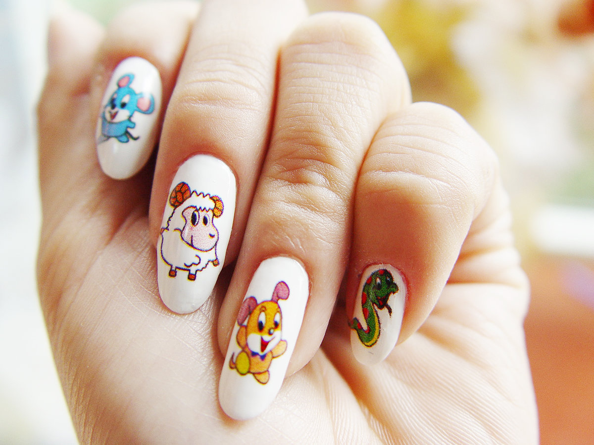 Ногти нарощенные прикольные рисунки