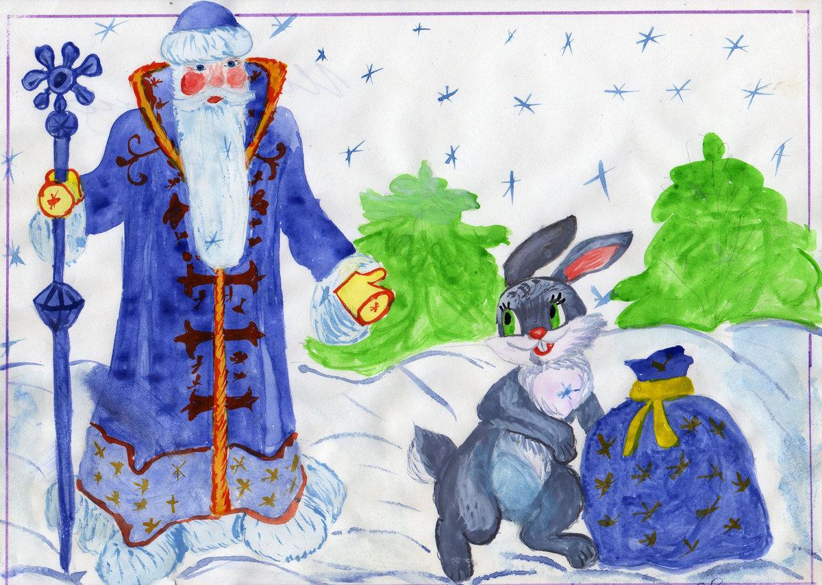 Для вайбер, рисунок на новый год с детьми