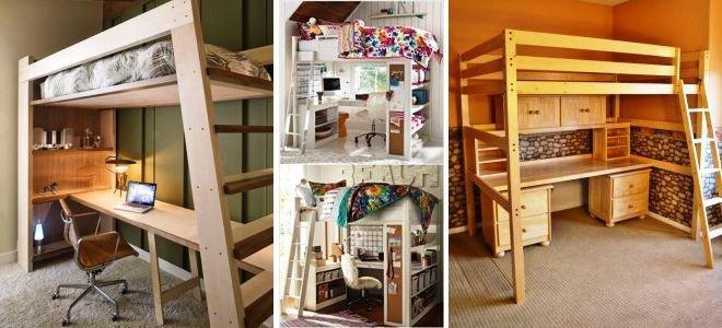 Кровать чердак сделанный своими руками будет не только удобен, но и функционален. Можно совместить с рабочим столом, шкафом, игровой зоной. Читай по ссылке