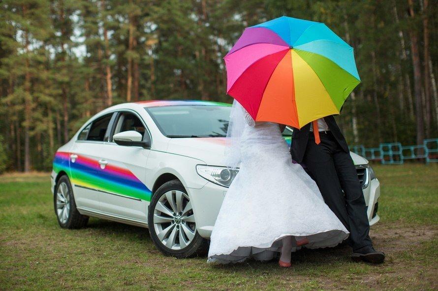 разноцветная свадьба фото устоять молодецких боях