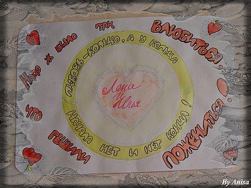 Плакат с поздравлением годовщины свадьбы