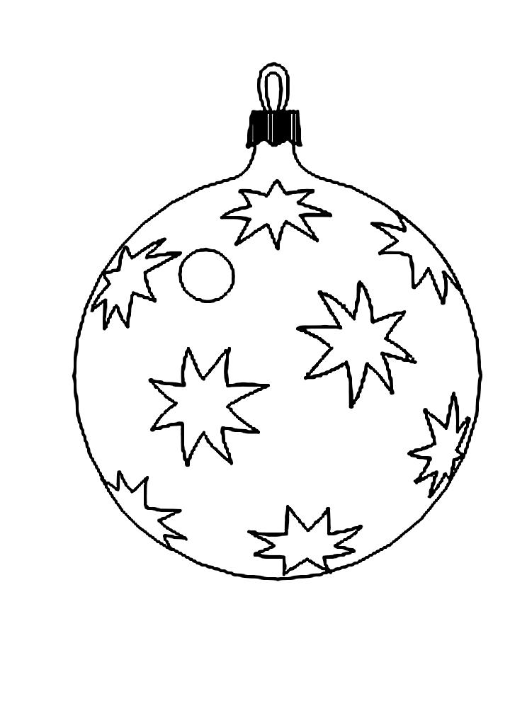 Картинки елочных шариков для раскрашивания