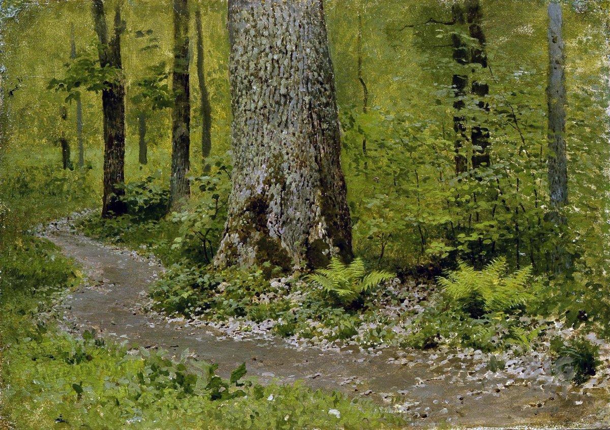 Картинки по запросу левитан тропинка в лиственном лесу
