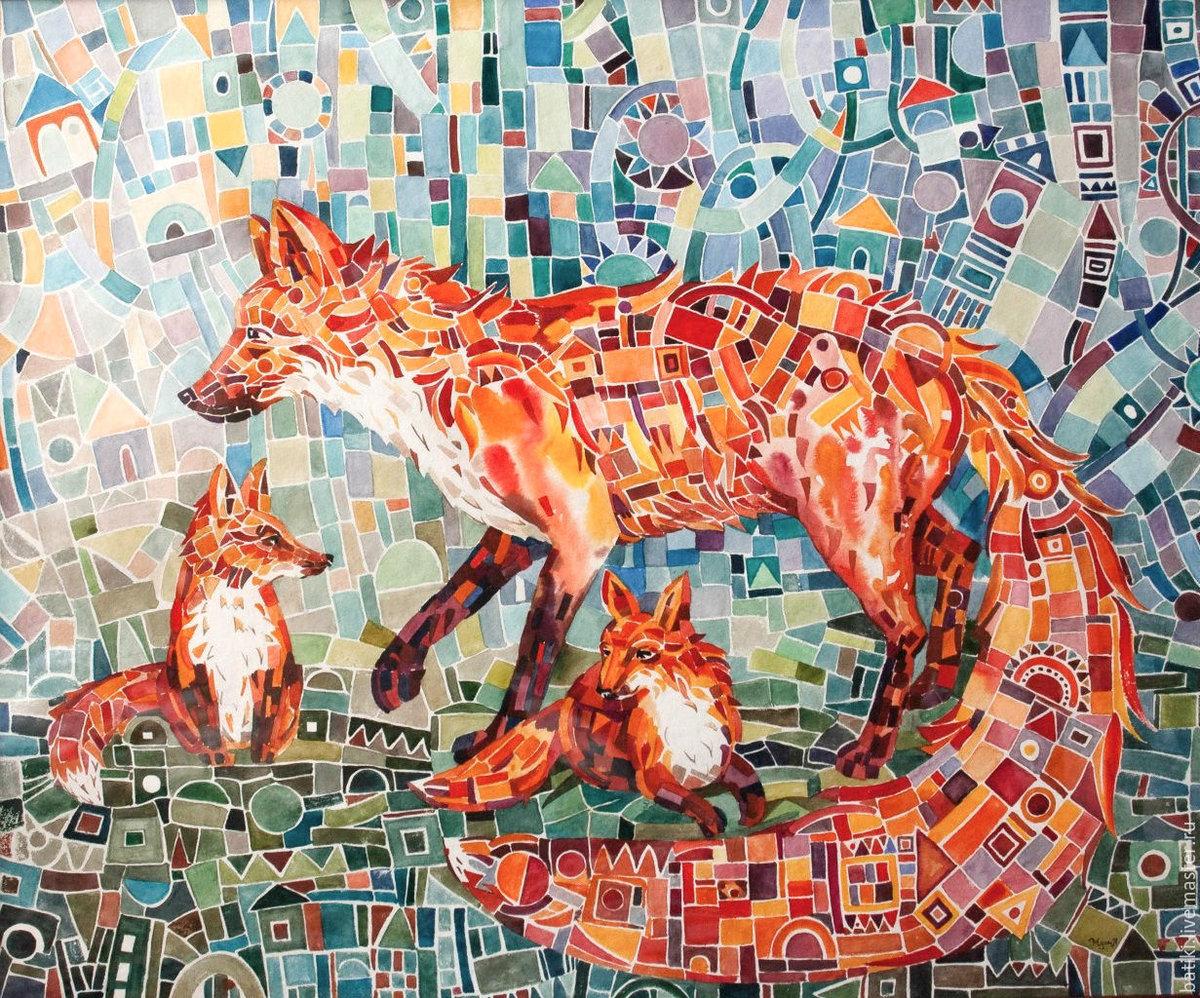 Картинки батиком животные, онлайн