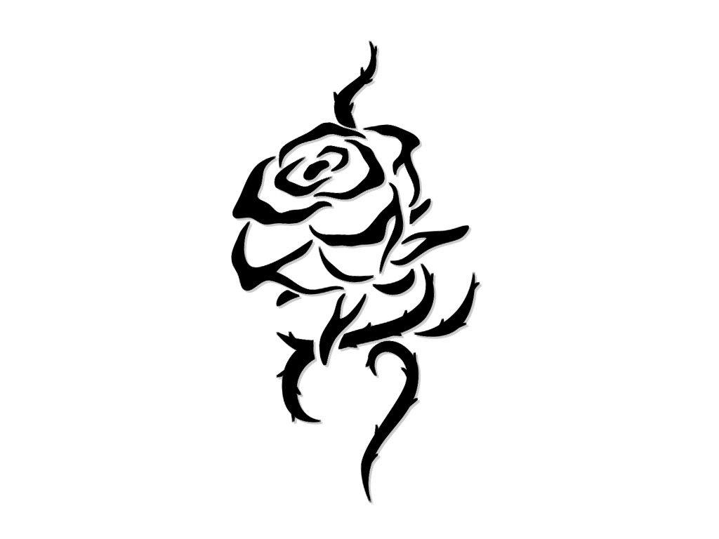Рисунок розы для тату, нарисовать детскую