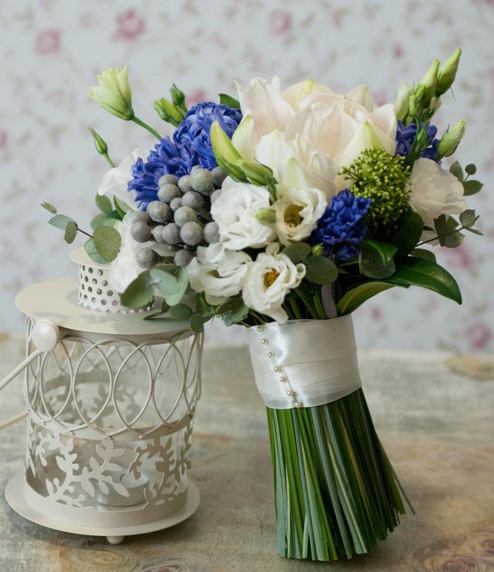 Свадебные букеты из синих гиацинтов