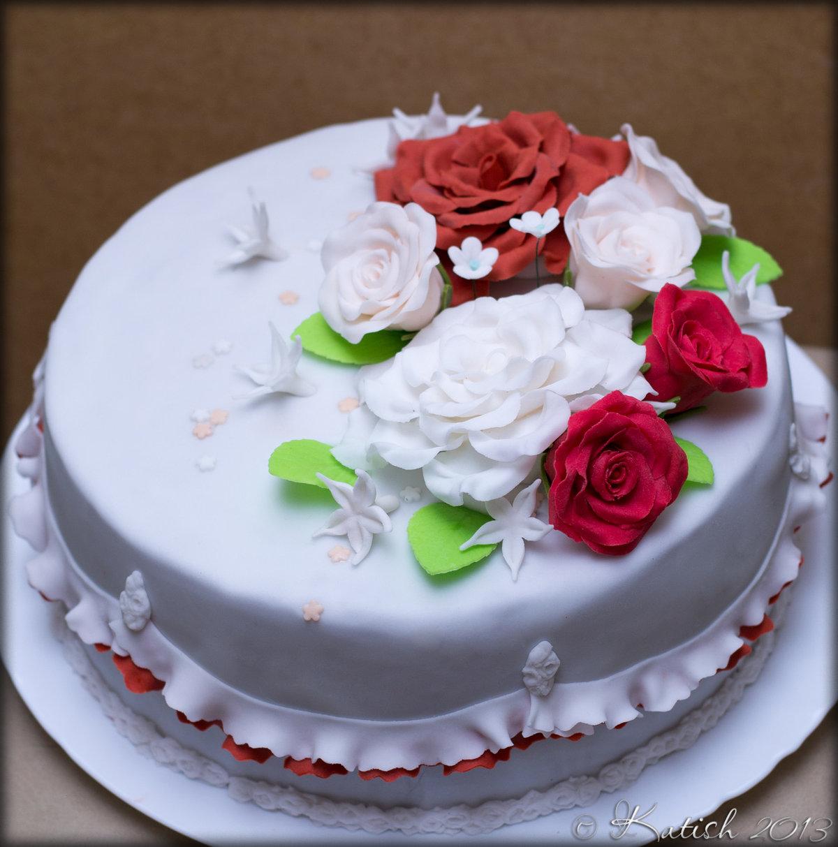 Картинки торт с цветами, брату днем