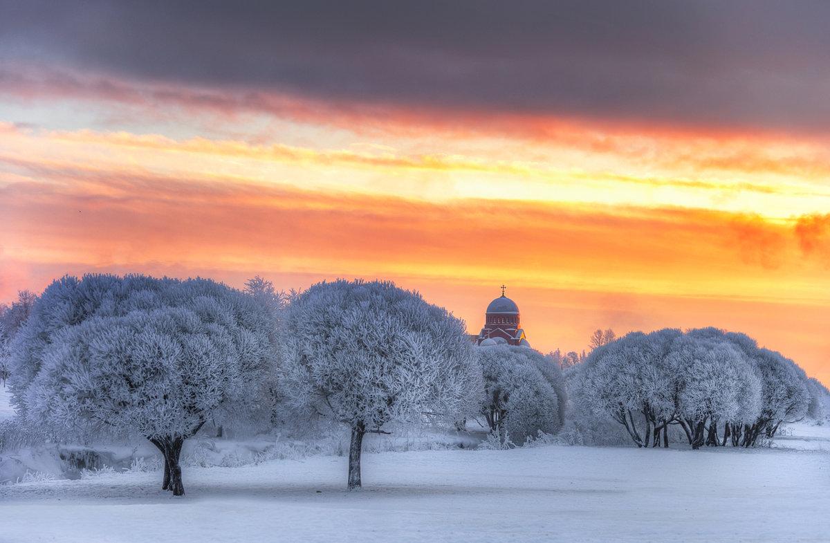 зимнее небо фото приккер набирает