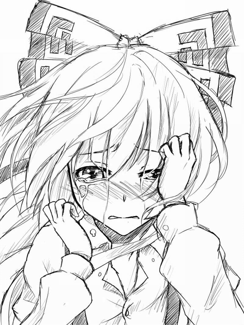 Рисунки черно белое аниме