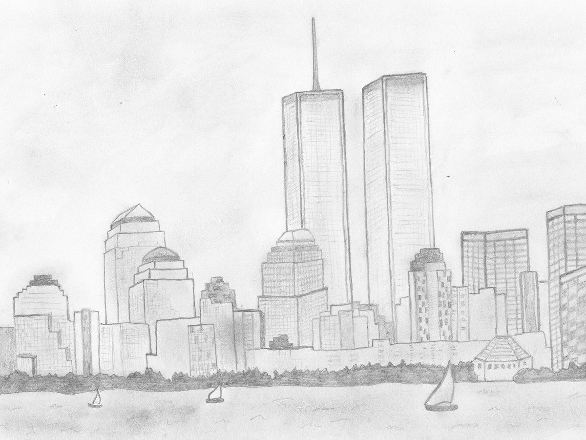 картинки про город карандашом подходят для непосредственного