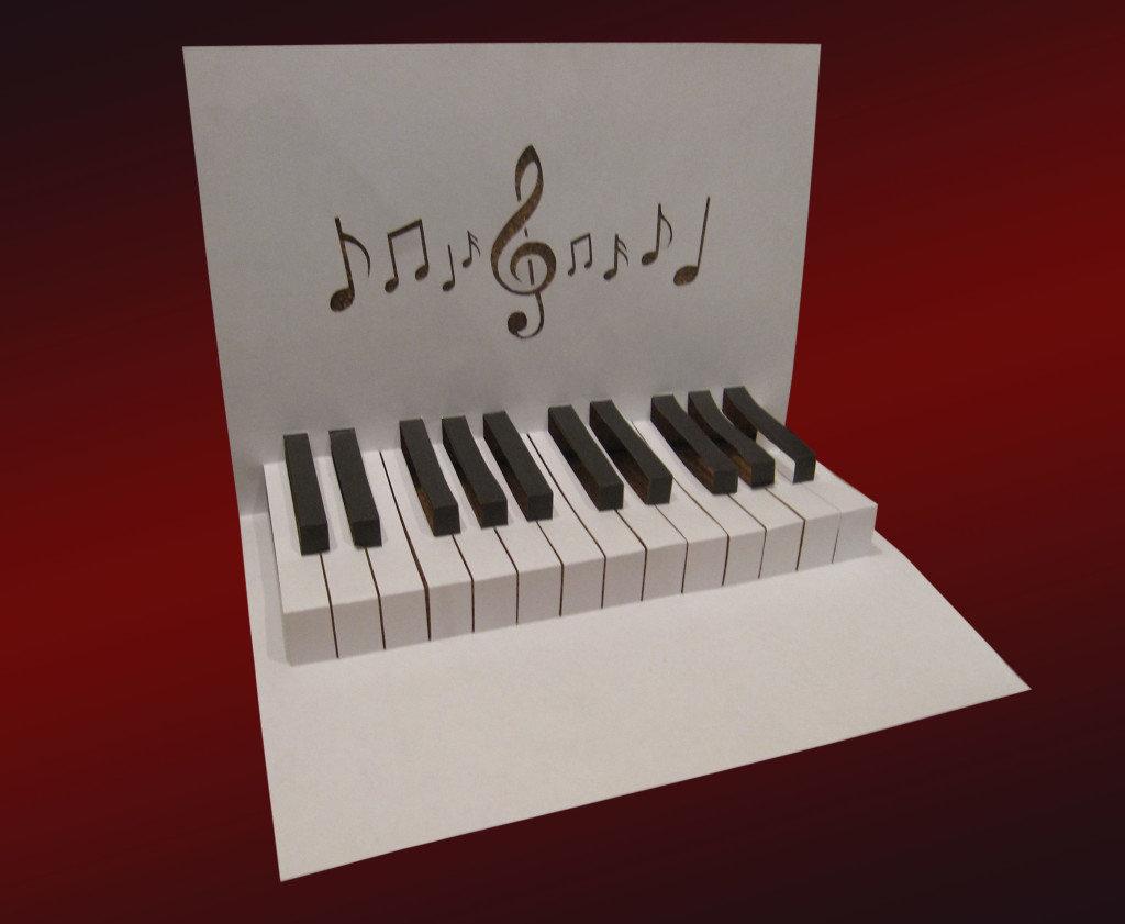 Открыток день, пианино открытка