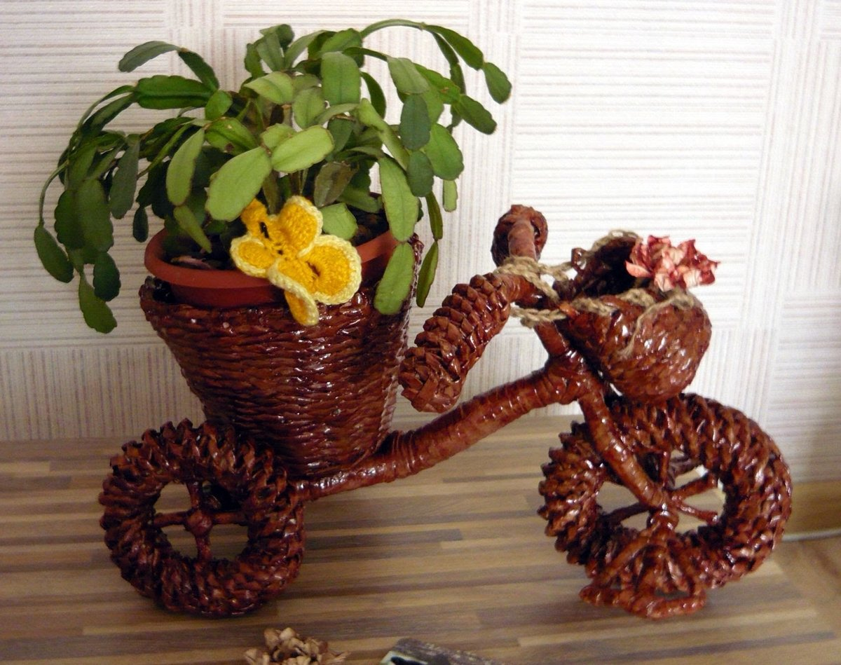цветы из газетных трубочек картинки просто расслабься