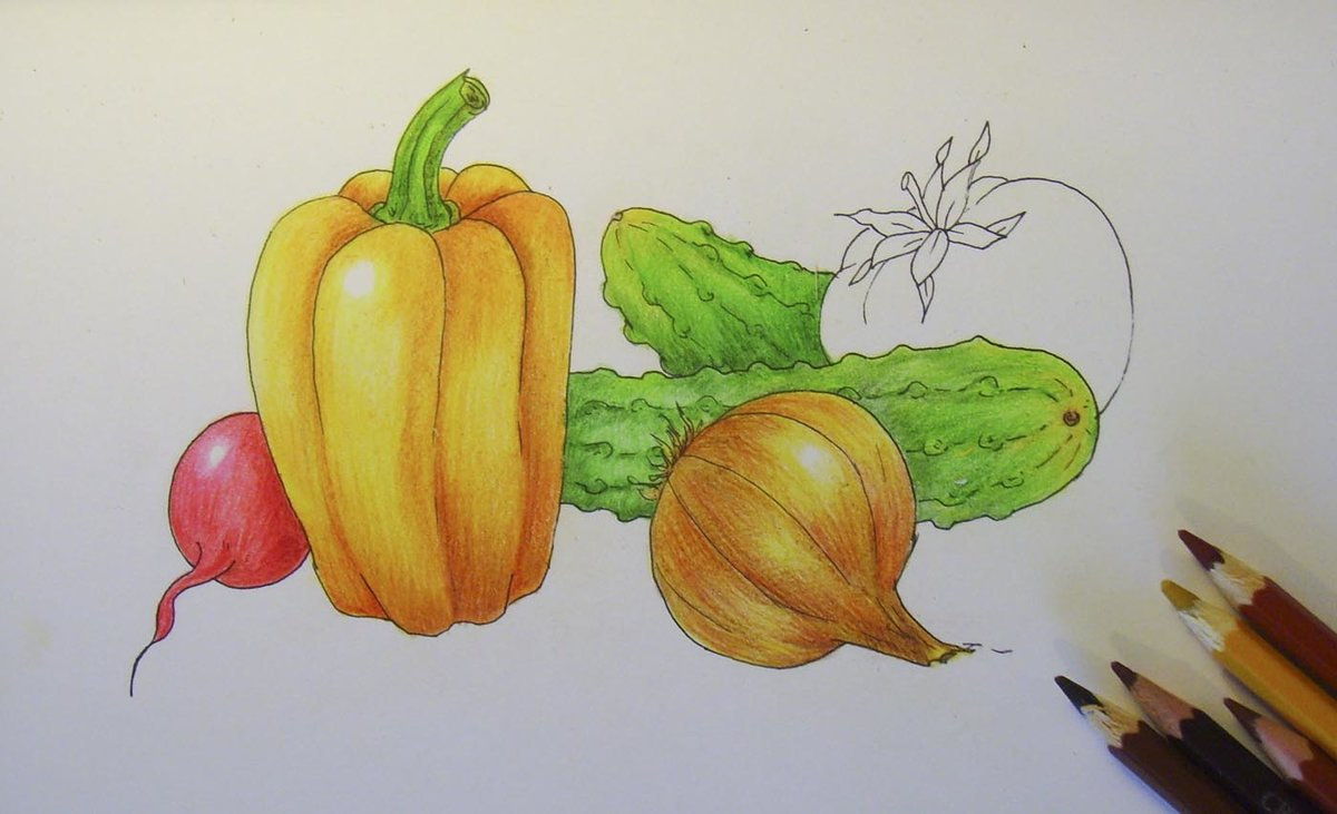Детские картинки фруктов как нарисовать
