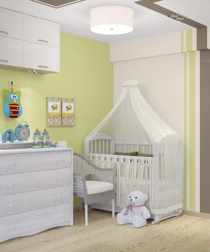 Кроватка для новорожденного в однокомнатной квартире фото