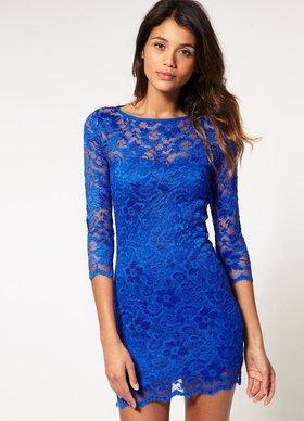 885ce75b8fe Вечерние платья с одним рукавом. osnitokris · Синее платье на выпускной