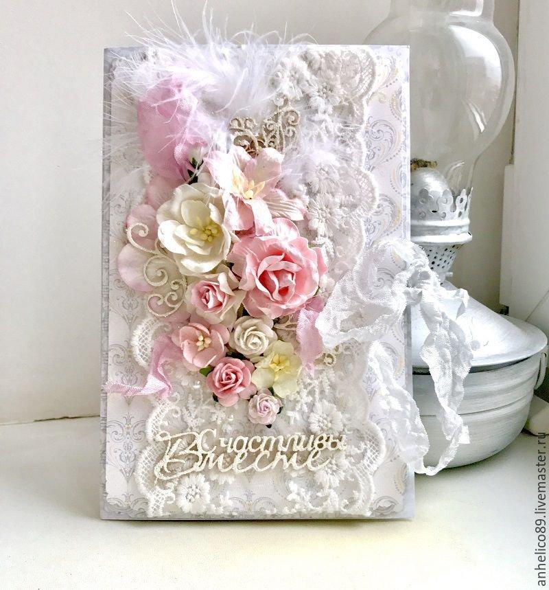 Свадебная открытка скрап с фото