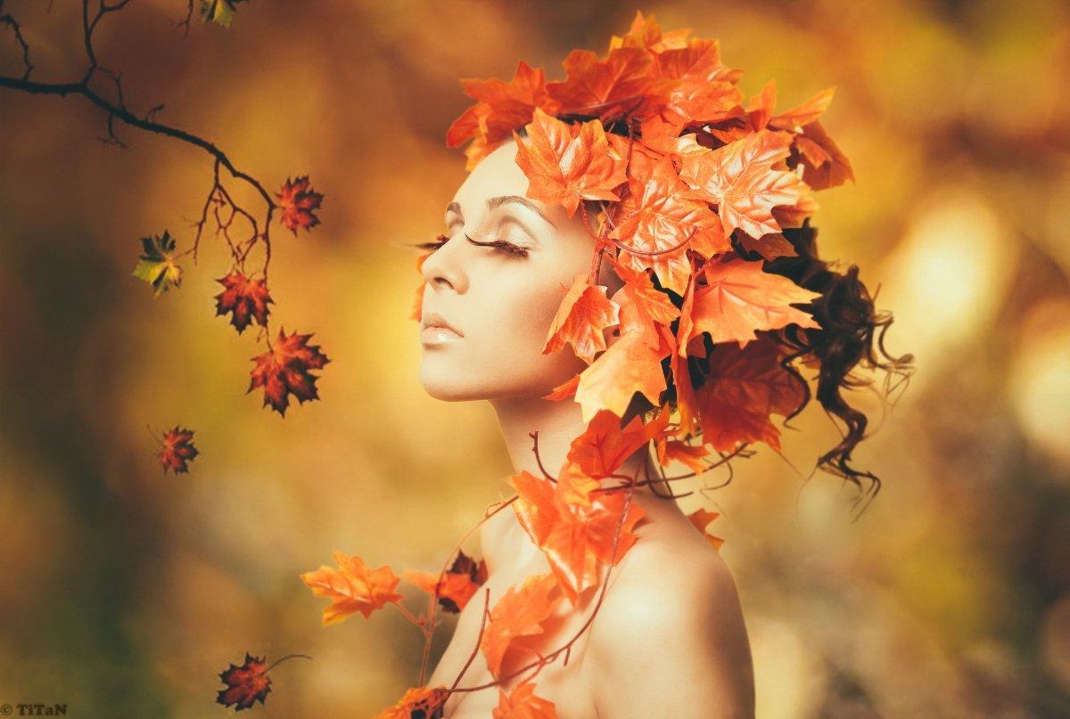 День рождения, картинки женщина-осень