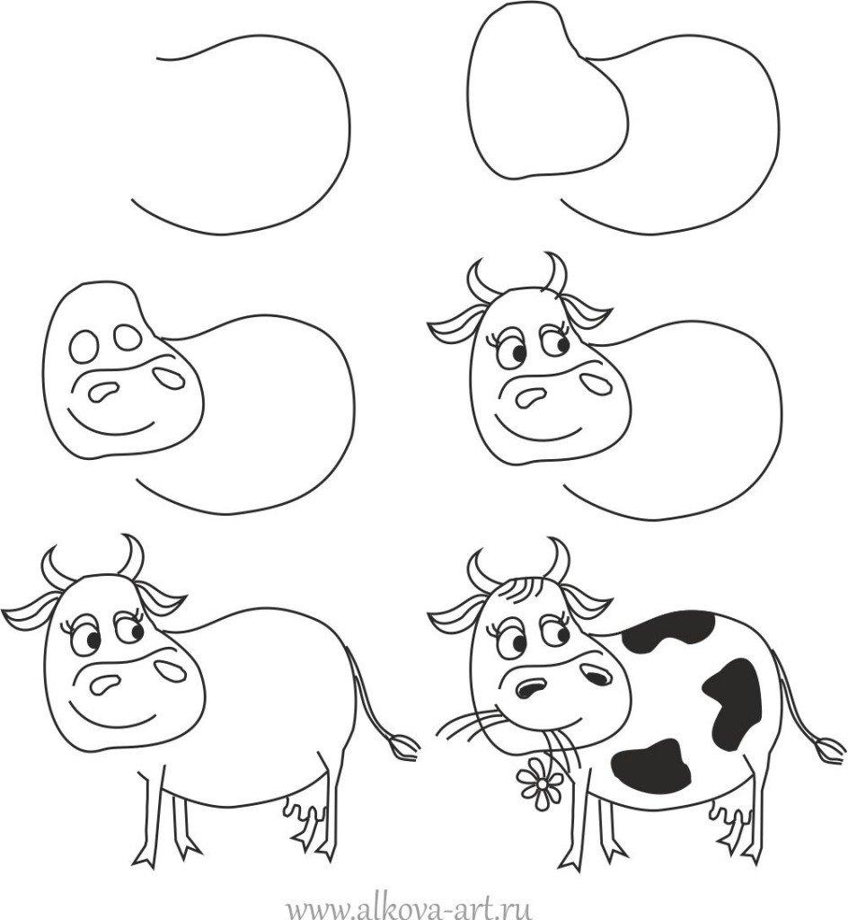 Как нарисовать смешные рисунки поэтапно карандашом
