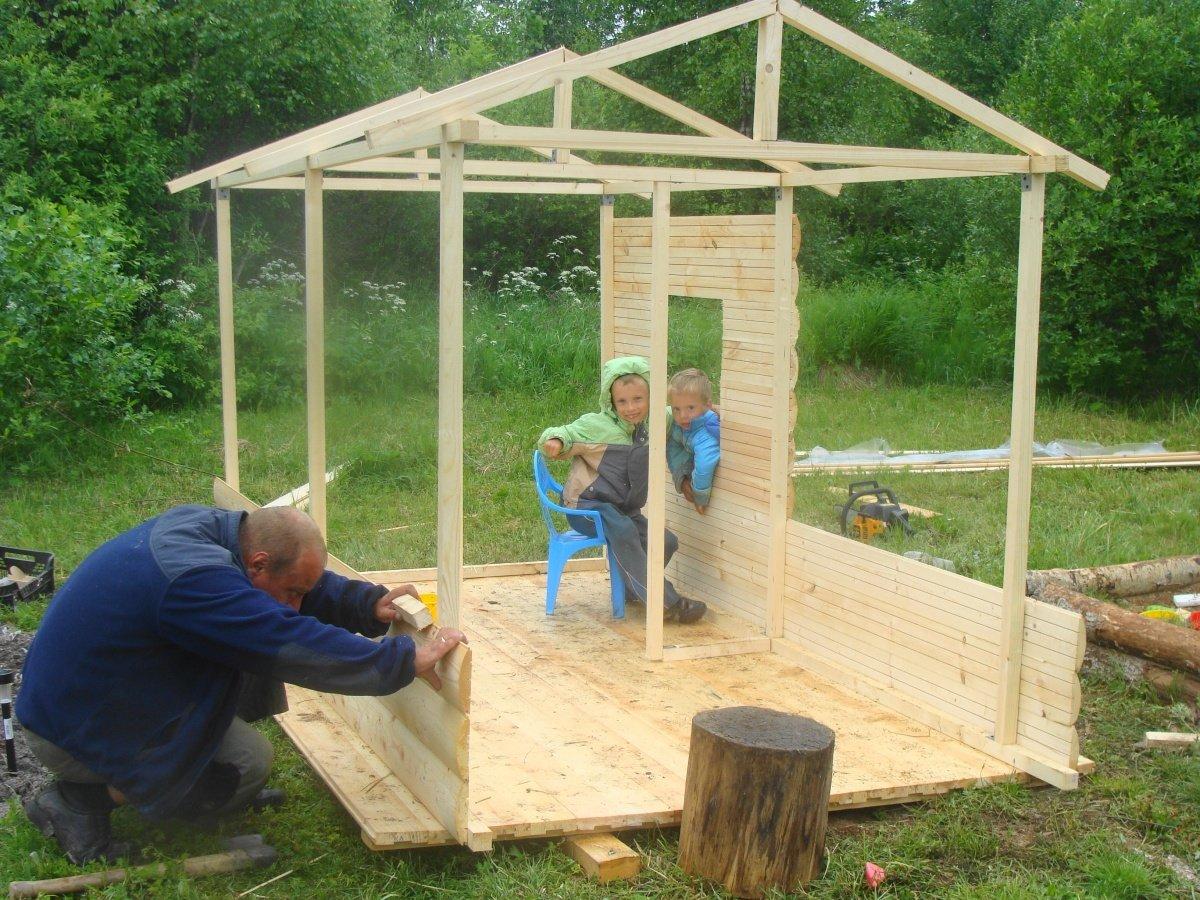 Из чего сделать домик для детей на улице своими руками фото 295